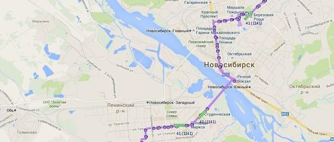 Транспорт на карте